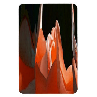 Coral Rose Abstract Rectangular Photo Magnet