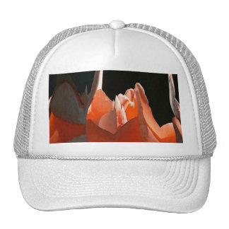 Coral Rose Abstract Trucker Hat
