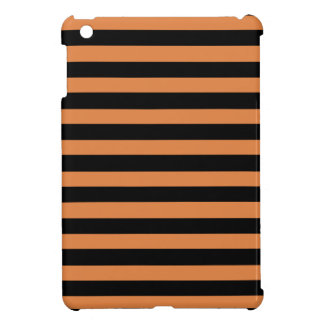 Coral Rose And Horizontal Black Stripes iPad Mini Case