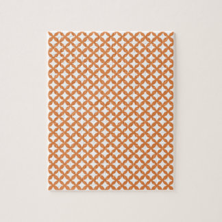 Coral Rose And White Graphic Art. Mesh Pattern Puzzle