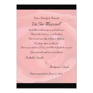 "Coral Rose Elopement 2 5"" X 7"" Invitation Card"