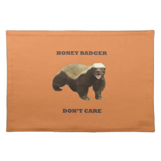 Coral Rose Honey Badger Don't Care Pattern Place Mat