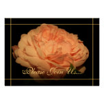 Coral Rose II Wedding Vow renewal  invitations