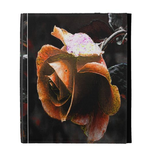 Coral Rose iPad Folio Cases