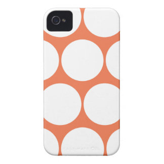 Coral Rose Large Polka Dot Iphone 4/4S Case