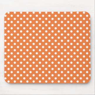 Coral Rose Medium Polka Dot Mousepad