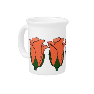 Coral Rose Pitcher