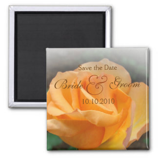Coral Rose Save-The-Date Magnet