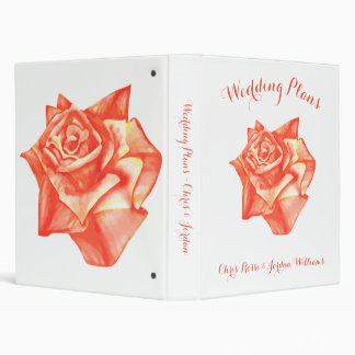 Coral Rose Wedding Planner Organizer Elegant Fun Binder