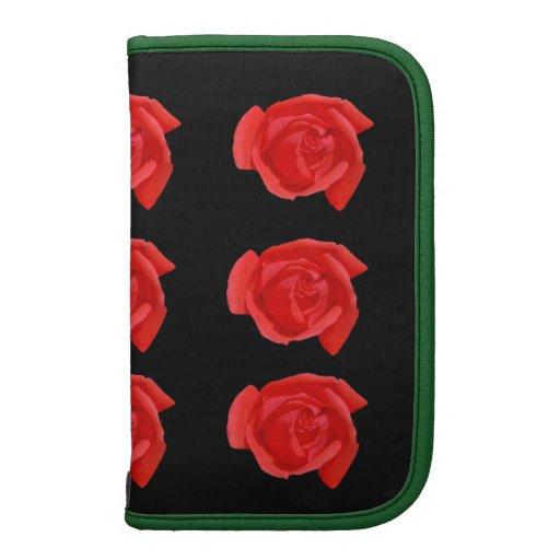 Coral Rosebuds Folio Planner