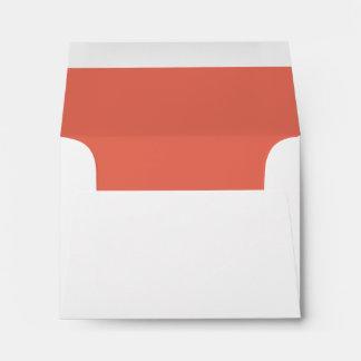 Coral RSVP Wedding Response B21 Envelope