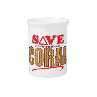 Coral Save Beverage Pitcher