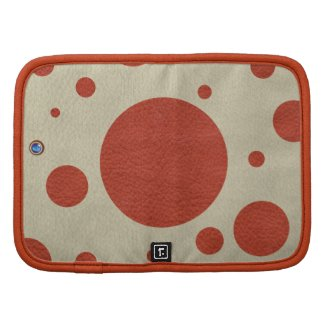 Coral Scattered Spots on Stone Leather Texture Organizers