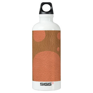 Coral Scattered Spots on Tan Leather Texture SIGG Traveler 0.6L Water Bottle