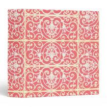 Coral scrollwork pattern binder