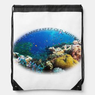 Coral Sea Drawstring Backpack