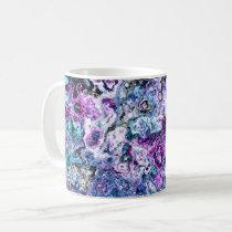 Coral sea pretty floral mug