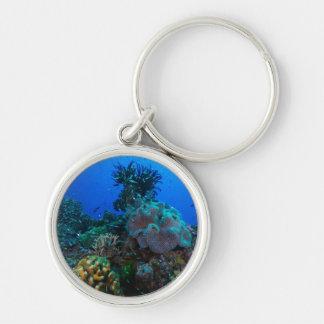 Coral Sea Round Keychain