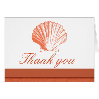 Coral Sea Shell Thank You Note Cards