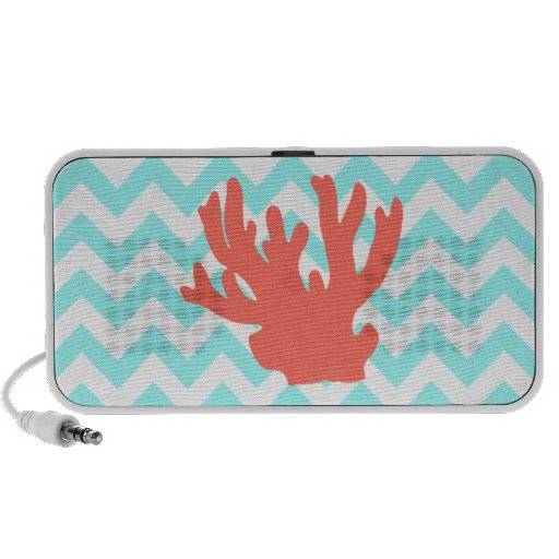 Coral Silhouette Notebook Speakers