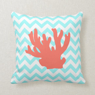 Coral Silhouette Pillow