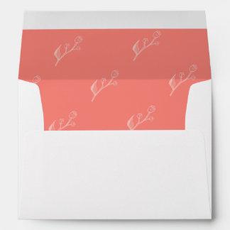 Coral | Simple and Elegant Wedding Lined Envelope