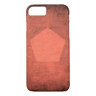Coral Smudge with Pentagon - Phone Case