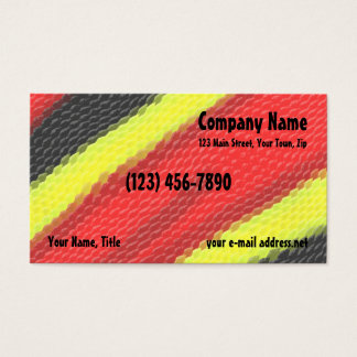 Coral Snake Business Card