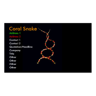 Coral Snake Double-Sided Standard Business Cards (Pack Of 100)