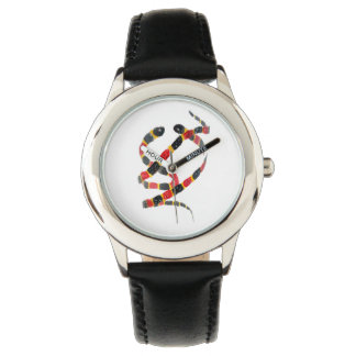Coral Snakes Twisting Art Wrist Watches