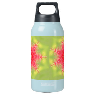coral snowflake insulated water bottle