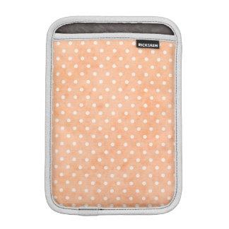 Coral Soft White Tiny Dots iPad Mini  Vertical Sleeve For iPad Mini