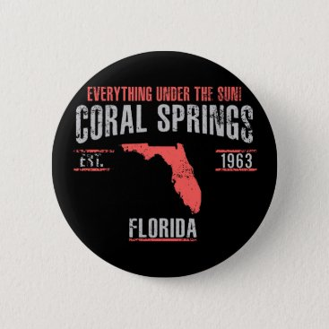 USA Themed Coral Spings Button