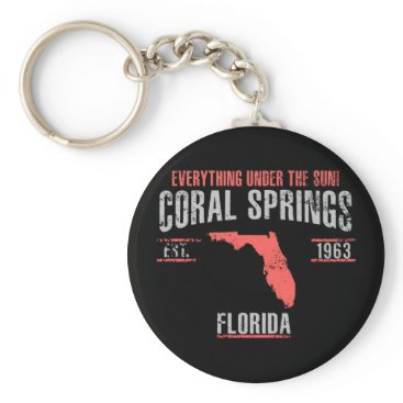 USA Themed Coral Spings Keychain