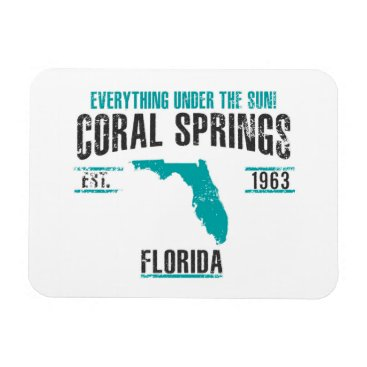 USA Themed Coral Spings Magnet