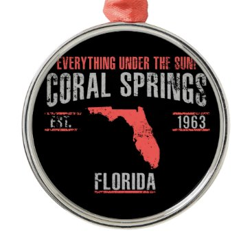 USA Themed Coral Spings Metal Ornament