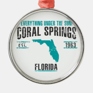 Coral Spings Metal Ornament