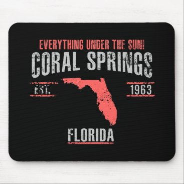 USA Themed Coral Spings Mouse Pad