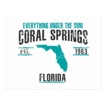 USA Themed Coral Spings Postcard