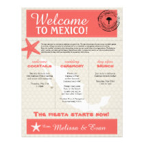 Coral Starfish Cabo Mexico Welcome Letter Letterhead