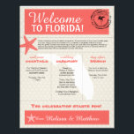"Coral Starfish Florida Wedding Welcome Letter Letterhead<br><div class=""desc"">Have fun with your destination themed wedding. Palm Tree, Starfish and Map of FLORIDA in colors of Colors are shades of Coral and Tan. Customize your schedule of events for your wedding weekend. For inquiries about custom design changes by the independent designer please email paula@labellarue.com BEFORE you customize or place...</div>"