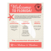 Coral Starfish Florida Wedding Welcome Letter Letterhead