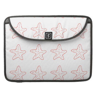 Coral Starfish Tropical Beach Illustration Sleeves For MacBook Pro