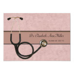 Coral Stethoscope - Graduation Party Invitation