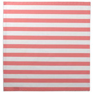 Coral Stripes Pattern Napkin