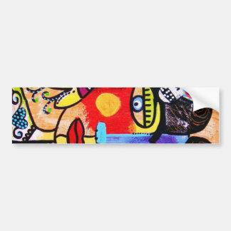 Coral Sugar Skull Bumper Sticker
