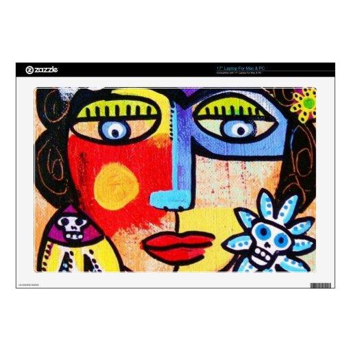 Coral Sugar Skull laptop skin Laptop Skin