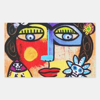 Coral Sugar Skull Woman Sticker