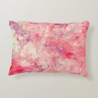 """Coral """"tapado con corcho"""" y arte abstracto beige cojín"""