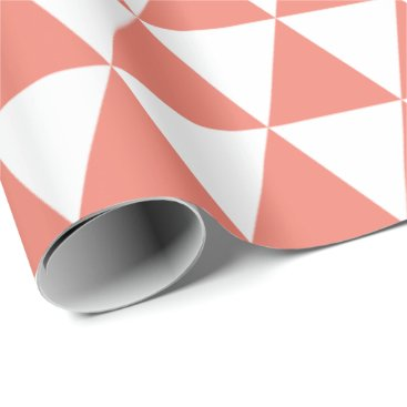 Christmas Themed Coral Triangles Wrapping Paper